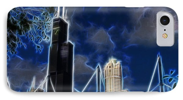 Chicago's Sears Tower IPhone Case by Chris Flees