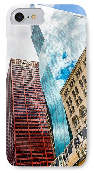 Chicago's South Wabash Avenue  IPhone Case by Semmick Photo