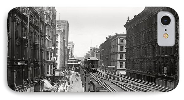 Chicago's Wabash Avenue  1900 IPhone Case by Daniel Hagerman