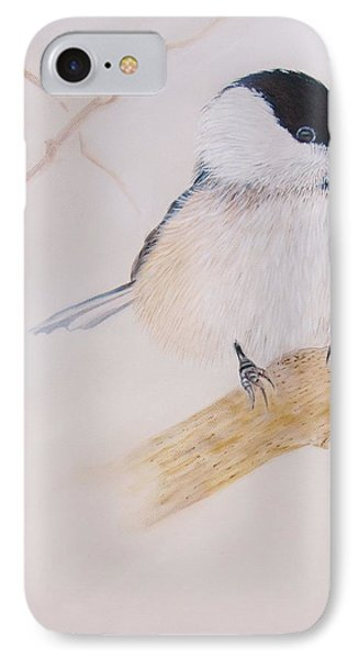 Chick-a-dee IPhone Case by Jean Yves Crispo