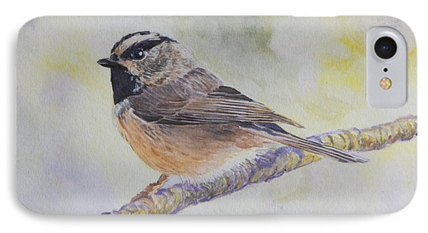 IPhone Case featuring the painting Chickadee 2 by Robert Decker