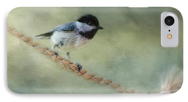 Chickadee At The Shore IPhone 7 Case by Jai Johnson