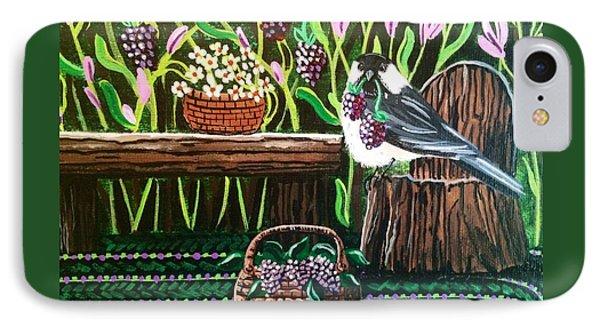 Chickadee Berries IPhone Case by Jennifer Lake