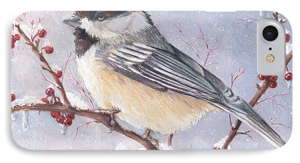 Chickadee Dee Dee IPhone Case by Shana Rowe Jackson