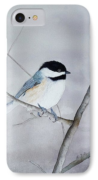 Chickadee II IPhone Case by Laurel Best