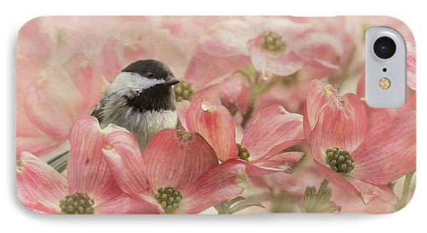 IPhone Case featuring the photograph Chickadee In The Dogwood by Angie Vogel