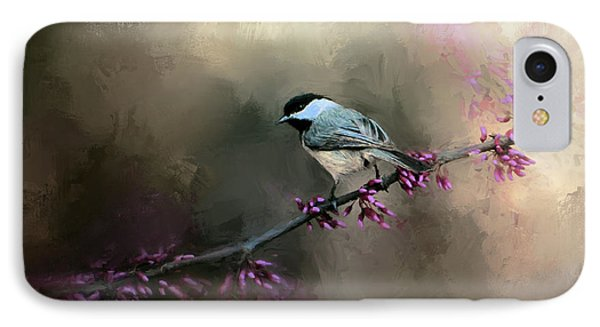 Chickadee In The Light IPhone 7 Case by Jai Johnson