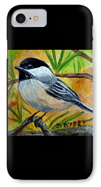 Chickadee In The Pines - Birds IPhone Case by Julie Brugh Riffey
