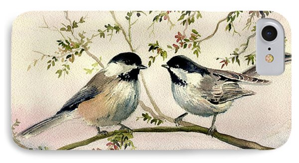 Chickadee Love IPhone Case by Melly Terpening