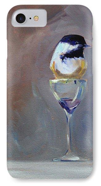 Chickadee Wine IPhone 7 Case by Nancy Merkle