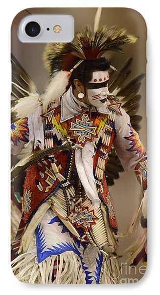 Pow Wow Chicken Dancer 12 IPhone Case by Bob Christopher