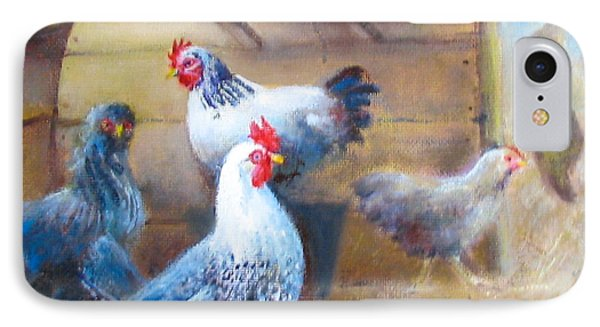 Chickens All Cooped Up IPhone Case by Oz Freedgood