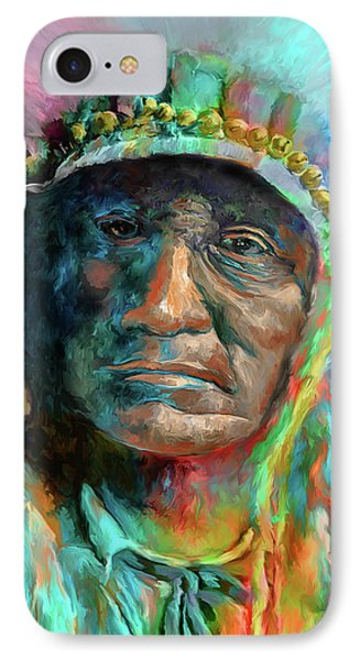 Chief 2 IPhone Case by Rick Mosher