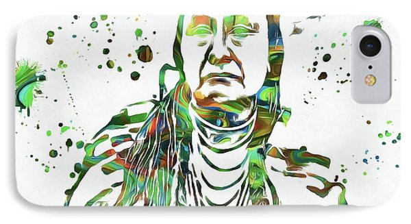 Chief Joseph Paint Splatter IPhone Case by Dan Sproul