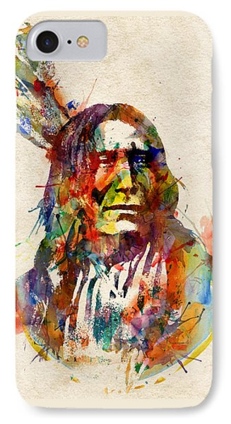 Chief Mojo Watercolor IPhone Case by Marian Voicu