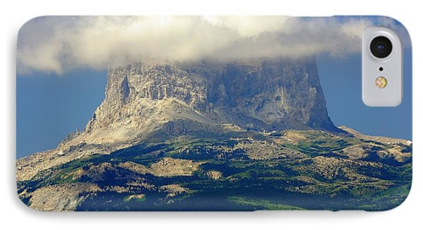 Chief Mountain, With Its Head In The Clouds IPhone Case