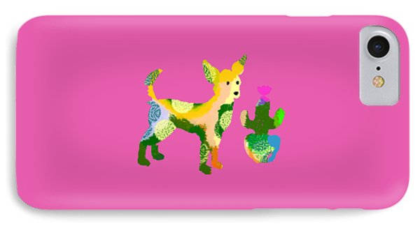 Chihuahua And Cactus IPhone Case