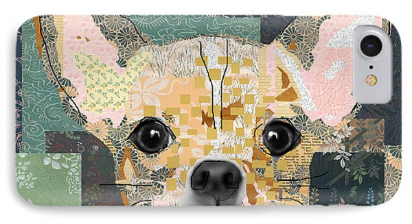 Chihuahua Collage Phone Case by Claudia Schoen