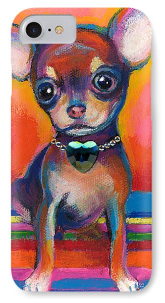 Chihuahua Dog Portrait IPhone Case by Svetlana Novikova