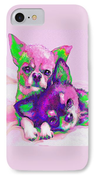 IPhone Case featuring the digital art Chihuahua Love by Jane Schnetlage