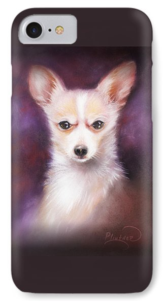 IPhone Case featuring the drawing Chihuahua No. 1 by Patricia Lintner