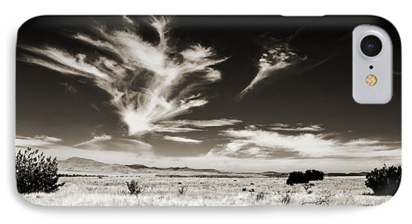 Chihuahuan Desert In Sepia IPhone Case by Allen Sheffield
