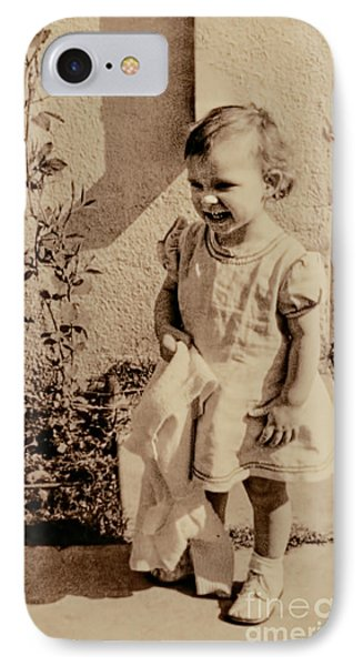 IPhone Case featuring the photograph Child Of 1940s by Linda Phelps