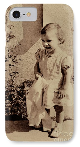 IPhone Case featuring the photograph Child Of  The 1940s by Linda Phelps