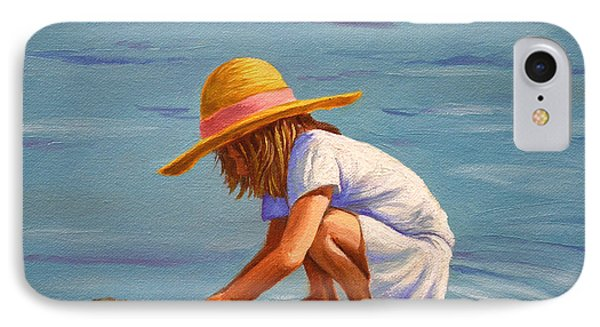 Child Playing In The Sand IPhone Case