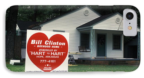 Childhood Home Of Bill Clinton Phone Case by Carl Purcell