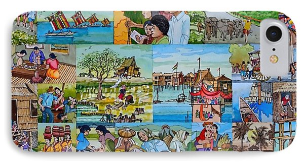 Childhood Memories Of My Mother Country Pilipinas IPhone Case by Andre Salvador