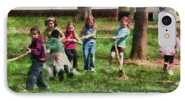 Children - Tug Of War  Phone Case by Mike Savad