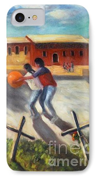 IPhone Case featuring the painting Tres Cruces De La Juventud Y La Vejez by Randol Burns