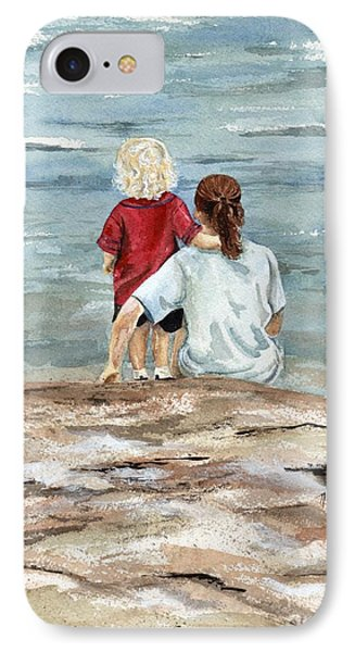 Children By The Sea  Phone Case by Nancy Patterson