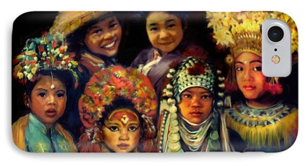 Children Of Asia Phone Case by Jean Hildebrant