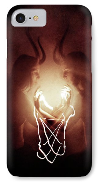 Magician iPhone 7 Case - Children Of Fire by Cambion Art