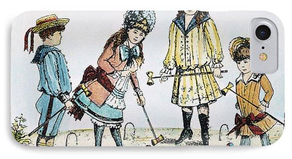 Children Playing Croquet Phone Case by Granger