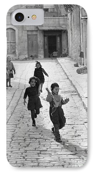 Children Playing In Jerusalem, 1952 IPhone Case by The Harrington Collection