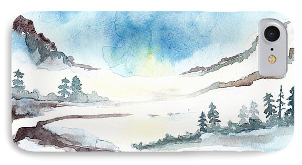 Children's Book Illustration Of Mountains IPhone Case by Annemeet Hasidi- van der Leij