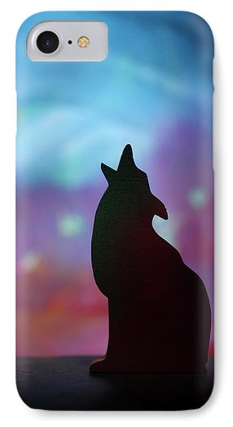 Children's Room Decor - Coyote Silhouette IPhone Case