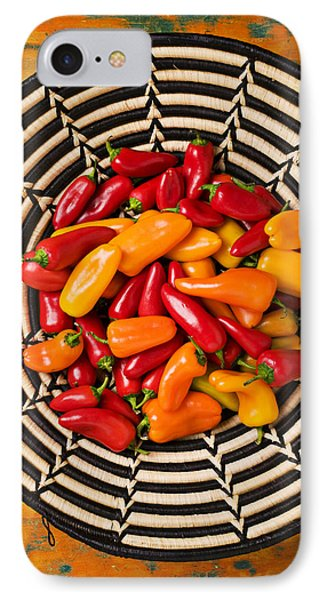 Chili Peppers In Basket  Phone Case by Garry Gay