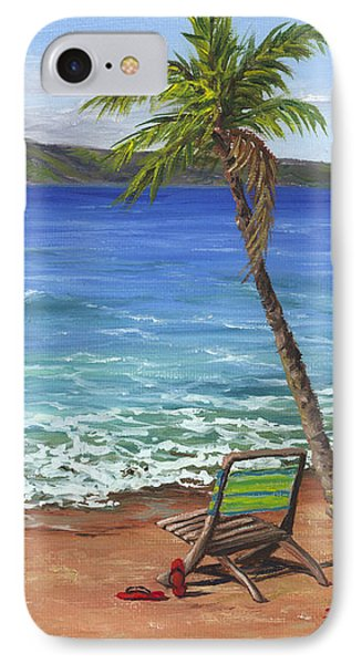 IPhone Case featuring the painting Chillaxing Maui Style by Darice Machel McGuire