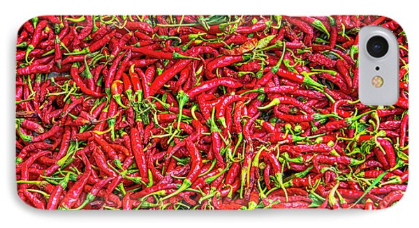 IPhone Case featuring the photograph Chillies by Charuhas Images