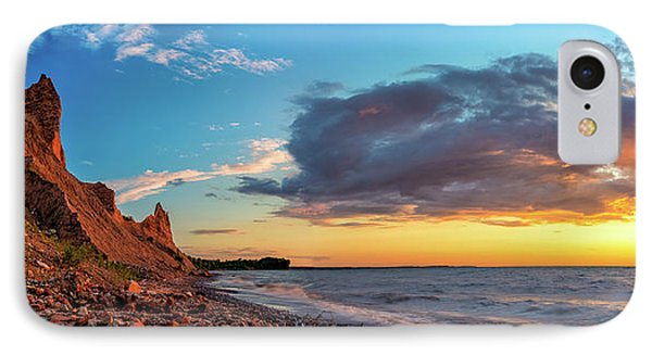 Chimney Bluffs IPhone Case by Mark Papke
