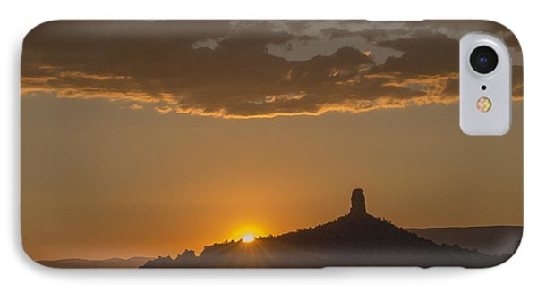IPhone Case featuring the photograph Chimney Rock Sunset by Laura Pratt