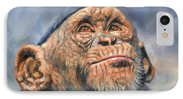 Chimp IPhone 7 Case by David Stribbling