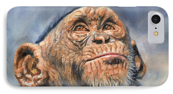 Chimp IPhone Case by David Stribbling