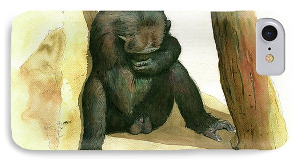 Chimp IPhone Case by Juan Bosco