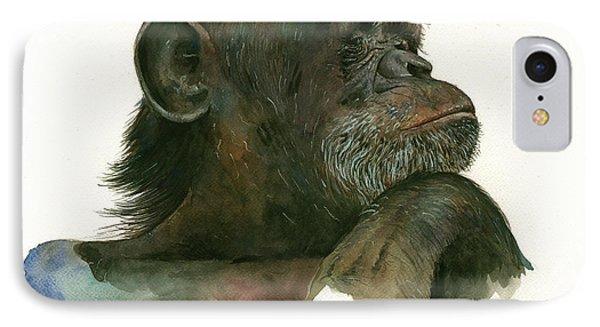 Chimp Portrait IPhone 7 Case by Juan Bosco