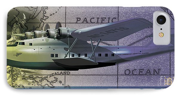 China Clipper Chasing The Sun IPhone Case by Kenneth De Tore